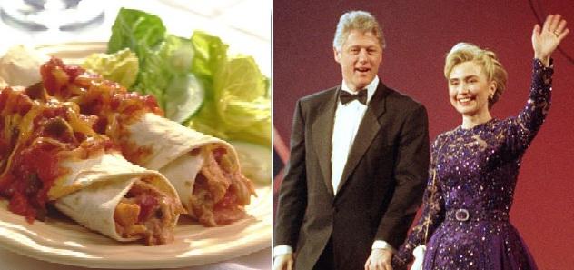 Bill and Hillary Clinton's Chicken Enchilada.