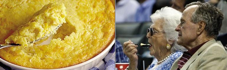 George H. and Barbara Bush's Corn Pudding.