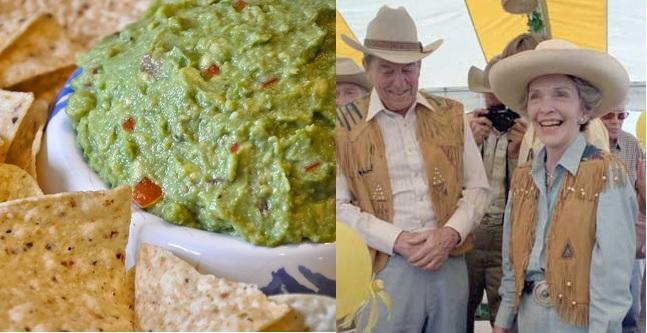 Ronald and Nancy Reagan's Guacamole.