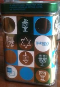 Barton's Hanukkah Candy tin. (etsy)