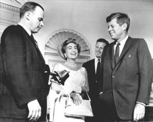 Crawford in JFK's Oval Office.