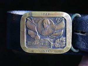 GW Bicentennial belt buckle.