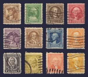 The Washington Bicentennial stamp sries.