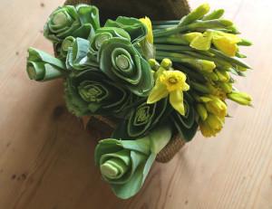"""Daffs'n'leeks,"" as a St. David's Day bouquet. (Phil Ewing)"