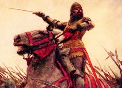 A depiction of Owain Glyndŵr.