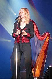 Welsh singer and harpist Siân James.
