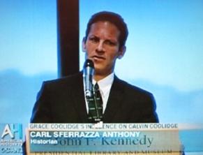 Speaking at the JFK Presidential Library.