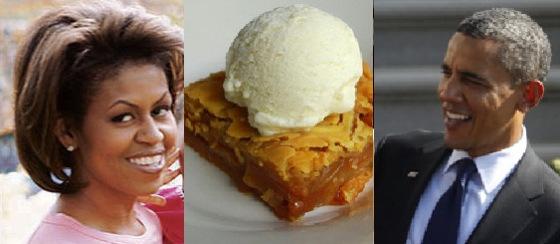 Barack and Michele Obama's Apple Cobbler.