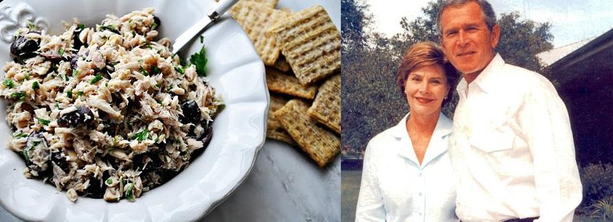 George W. and Laura Bush's Olive Tuna Salad.