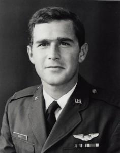 George W. Bush in his ROTC uniform.