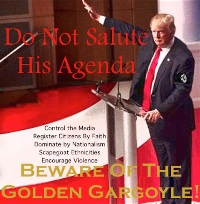 Trump Fascism poster